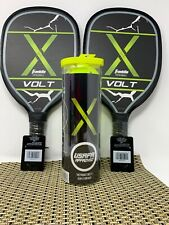 3 Franklin Sports X-40 Performance Outdoor Pickleballs 2 Paddles USAPA Approved