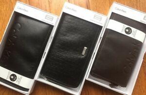 Calvin Klein Continental Zip Around Wallet leather Unisex Mens Womens New