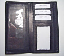 100% Genuine Leather-Checkbook cover Black (Hand Crafted) New Design!!!