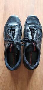 Black  PRADA Men's Casual Shoe Sneaker US 9.5 (Prada 8.5) Leather