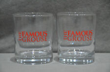 Pair Of (2) The Famous Grouse Scotch Whisky Tumbler Glass Tiki Bar 20cl 200ml