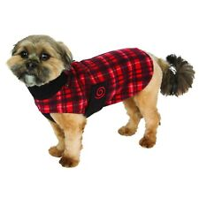Ultra Paws Cozy Comfy Fleece Red Black Plaid Coat Jacket Vest NWT