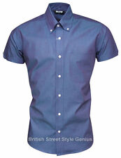 Patternless Fitted Button Down Casual Shirts & Tops for Men