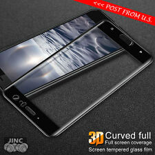 BLACK 3D Full Curved Edge Tempered Glass Screen Protector for HTC U11