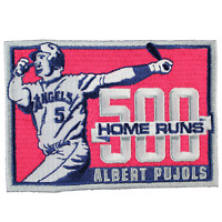 2014 Albert Pujols 500TH Career Home Runs Los Angeles Angels Jersey Patch MLB