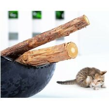 2 Pcs Cat Cleaning Teeth Pure Natural Catnip Pet Cat Molar Toothpaste Stick HF