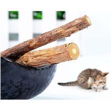 2 Pcs Cat Cleaning Teeth Pure Natural Catnip Pet Cat Molar Toothpaste Stick EF