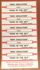 INXS New Sensation Guns in the Sky Jukebox Title Strip 1/2 Sheet