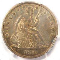 1873 No Arrows Seated Liberty Half Dollar 50C - PCGS AU Details - Rare Coin!