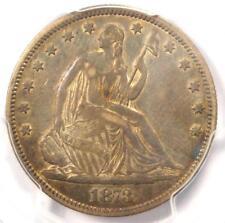 1873 No Arrows Seated Liberty Half Dollar 50C - PCGS AU Details - Rare Coin!
