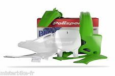 Kit plastiques Polisport Kawasaki KX125 250 KX 99-02 couleur Origine