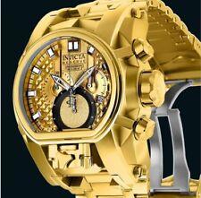 Invicta Reserve Gold 52mm Bolt Zeus Magnum  Dual Swiss Movement Watch