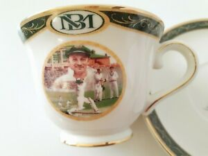 Don Bradman Cup and Saucer. Made by Bradex.