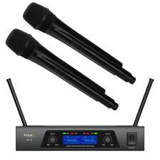 IBIZA UHF20 2-KANAL UHF FUNKMIKROFONSYSTEM SET 2 HANDMIKROFONE KARAOKE EVENT DJ