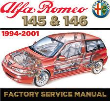 Alfa Romeo 145 146 1994 - 2001 Factory Repair SERVICE MANUAL WORKSHOP FSM