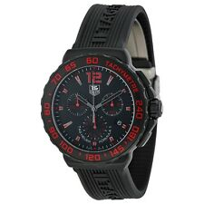 Tag Heuer Men's Formula 1 Chronograph Black & Red Titanium watch CAU111D.FT6024