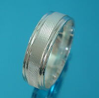 New Solid 925 Sterling Silver 6.5mm Band Ring/Thumb Ring Jewellery Various Sizes