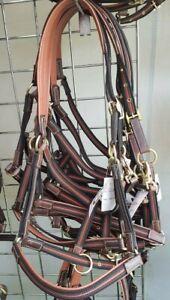 Tan/ Blk, Lightweight safer Headcollar Pony size ,Leather & webbing.