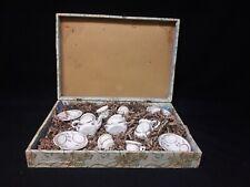 Antique Porcelain Set of Doll Dishes in Presentation Box