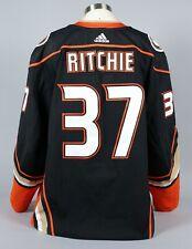 2019-20 Nick Ritchie Anaheim Ducks Game Worn Home Black Jersey Set 2