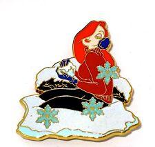 Rare Le 250 Disney Pin✿Jessica Rabbit Snowball Series Winter Ear Muff Snowflakes