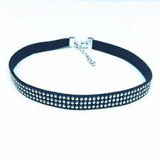 Women Diamond Stud Silver Crystal Rhinestone Choker Necklace Wedding Jewellery