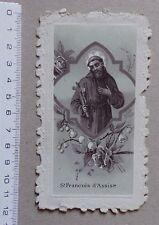 image pieuse religieuse St François d'Assise publicité chocolat Guérin Boutron
