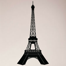 "40"" Paris Eiffel Tower Detailed Large Wall Decal Sticker France French Mural Art"