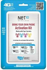 Net10 - Sim Card Kit for Unlocked Gsm and Cdma Cell Phones/Ua2-2/12