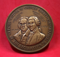 Signers The Declaration of Independence - Natives of Chester County Bronze Medal