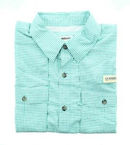 Magellan Outdoors Men's Fishing Shirt, Short Sleeve Button-Down Fish Gear Top