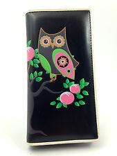 NWT Cute Far Nine Novelty Wallet - Black OWL SITTING IN TREE FREE Shipping