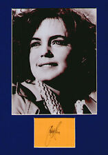 ELIZABETH McGOVERN signed paper +  pic in display. UACC RD retiring