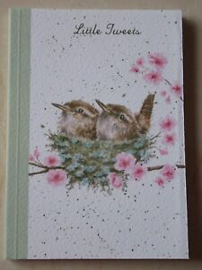 Beautiful WRENDALE A6 Paperback Notebook - HOME TWEET HOME - BIRDS - NEW