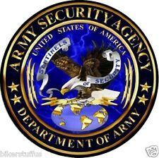 ARMY SECURITY AGENCY ASA BUMPER STICKER HELMET STICKER TOOL OX STICKER LAPTOP