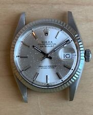 Rolex Datejust 1601 Steel with white gold bezel cal. 1570 Serviced Circa 1970