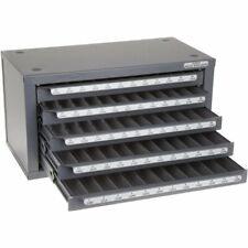 Huot 13025 Wire Gauge Drill Dispenser Organizer Cabinet Holds Sizes 1 60 Bits