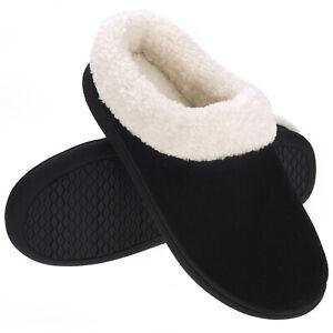 Women's Memory Foam Cozy Slippers Fuzzy Slip On Home House Shoes