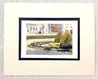 1906 Antik Aufdruck The Palast Von Versailles Landschaft Blumen Gärten Parterre