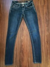 Mint Condition! Womens Hydraulic Bailey Super Skinny Jeans Dark Wash Size 3/4 R