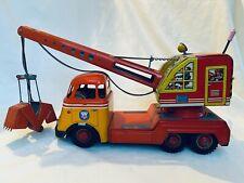 Arnold Daf Excavator / Fuchs Digger Crane Truck Blech Auto / Tin Toy Rare