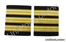 Epaulette Pilot Captain First officer 3 X1/2 Gold R140