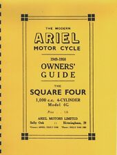 Ariel Square Four ~ Owner's Guide ~ 1949-1950 ~ Reprnt Motorcycle Manual
