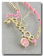 Peace Fashion Bracelet with Thread & Beads & Dangle