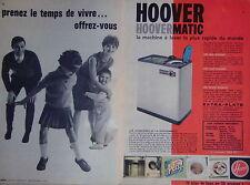PUBLICITÉ HOOVER HOOVERMATIC MACHINE À LAVER LA PLUS RAPIDE - COLIN-MAILLARD