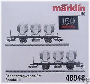 Märklin 48948 Behältertragwagen-Set der SNCB#NEU in OVP