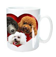Poodle Dog Mug 3 Poodles n a Heart, Poodle Dog Xmas Gift Birthday Gift