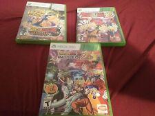 Dragon Ball Z 3 game bundle X-Box 360