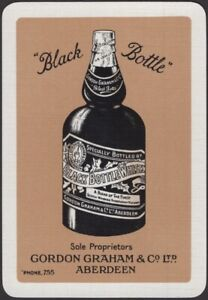 Playing Cards Single Card Old Wide Gord GRAHAM BLACK BOTTLE WHISKY Advertising B