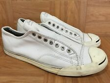 Used🔥 Converse Jack Purcell LP Laceless Leather Slip On Fashion Sneakers Sz 11